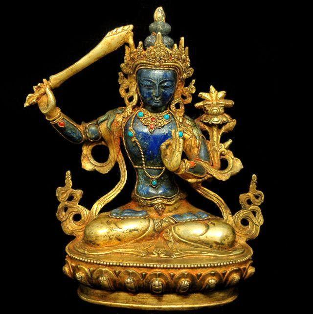 Lapis Manjushri Statue
